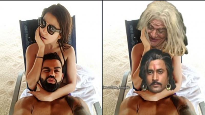 Anushka Sharma, Virat Kohli's hot beach picture is new topic of memes; check out