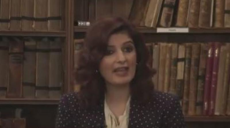 Screengrab from the video where Twinkle Khanna speaks about 'Padman'.