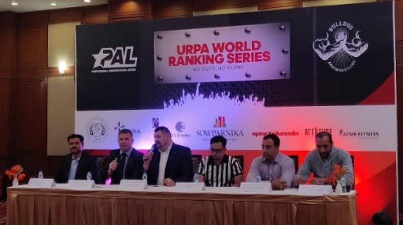 Dignitaries from PAL and Sowparnika Projects announcing India's first first-ever International Ranking Series.