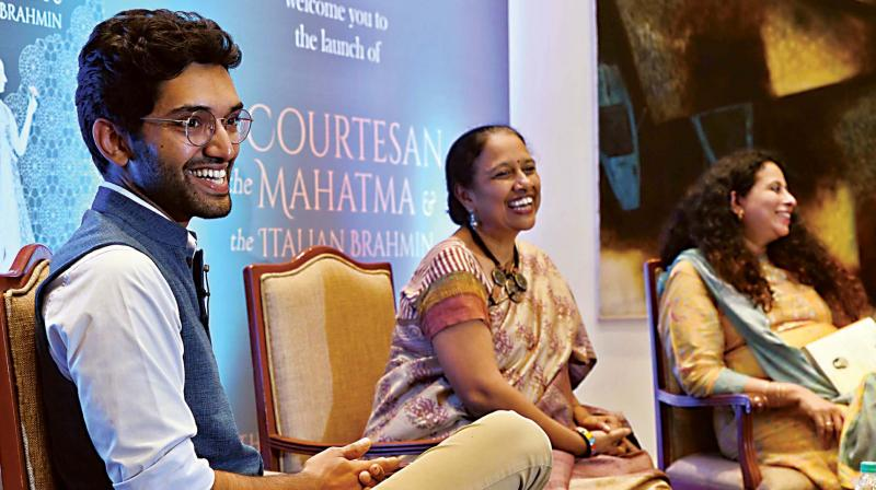 Manu Pillai at his book launch in Bengaluru. (Photo: R. Samuel)