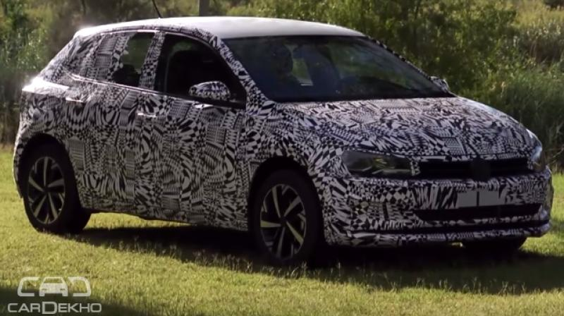 Volkswagen released a teaser image of the new Polo and a video on YouTube.