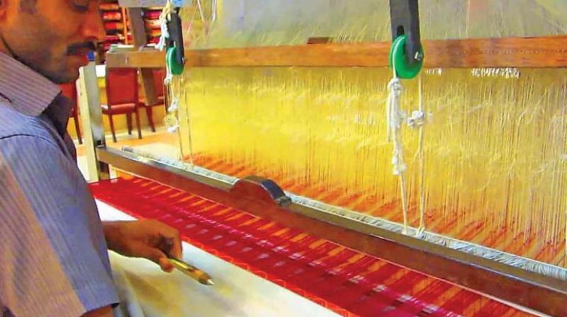 A handloom weaver       (Representational Image)