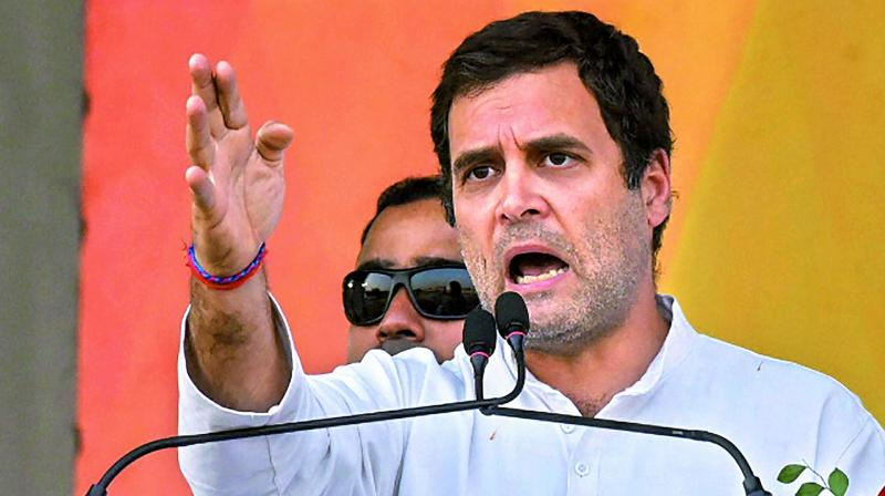 Addressing a rally in Maharashtra on Monday, Rahul Gandhi slammed Prime Minister Narendra Modi for failing to keep his promise of giving two crore jobs to India's youth. (Photo: File)