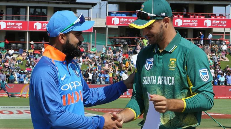 After losing the fourth ODI both Virat Kohli (left) and his boys will look to wrap up the series, while  South Africa stand in skipper Aiden Markram (right)  would want his team to continue their winning momentum to square the series . (Photo: BCCI)