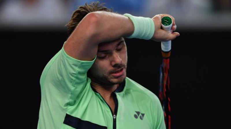 Stan Wawrinka hit 41 unforced errors as he crashed to 4-6, 6-3, 6-2 defeat. (Photo: AFP)