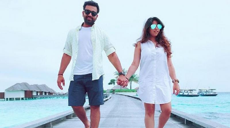 Last year Rohit Sharma dedicated his third double century to his Ritika on the occasion of their second marriage anniversary