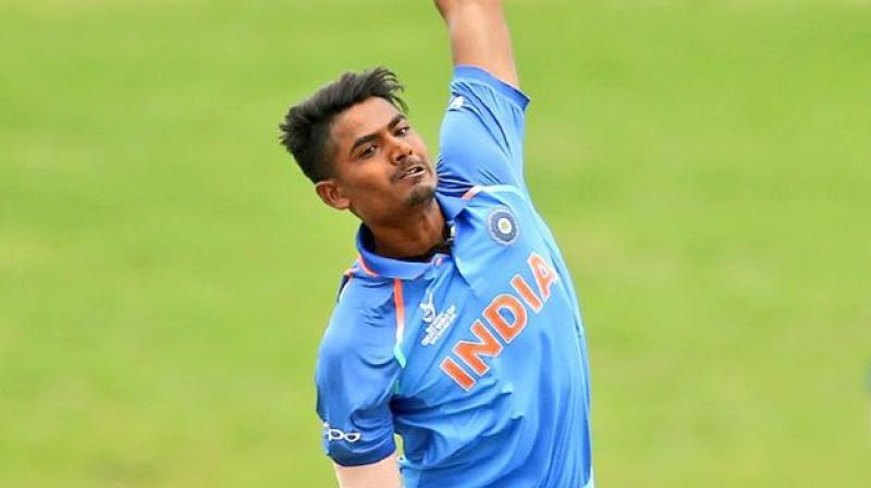 Anukul Roy picked up 2/32 in the final against Australia to top the chart due to better average. (Photo: Twitter / ICC))