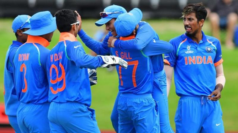 The Indian team which lifted the World Cup thrashing Australia had talented bowlers like Kamlesh Nagarkoti and Shivam Mavi, who repeatedly clocked the speed of over 140 kmph. (Photo: AFP)