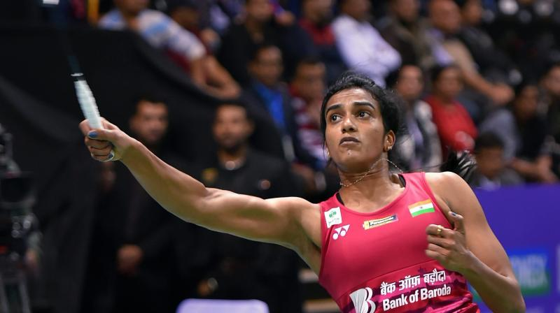 PV Sindhu recovered quickly from her heart-breaking loss at the finals of the India Open last Sunday won 21-12 21-18 over Hong Kong's Yip Pui Yin in the first singles. (Photo: PTI)