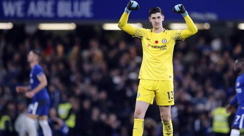 bedf4468de0 Thibaut Courtois spent three years on loan at Atletico Madrid from Chelsea  between 2011 and 2014