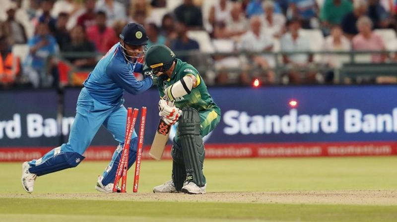 MS Dhoni became the first Indian and fourth overall wicketkeeper to have 400 dismissals in ODIs. (Photo: BCCI)
