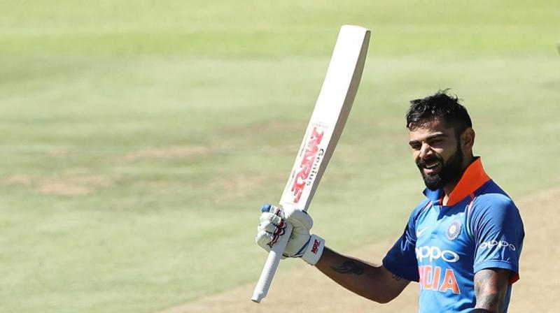 Virat Kohli, who notched up his 34th ODI hundred, scored an unbeaten 160 off 159 balls to set up India's 124-run win. (Photo: BCCI)