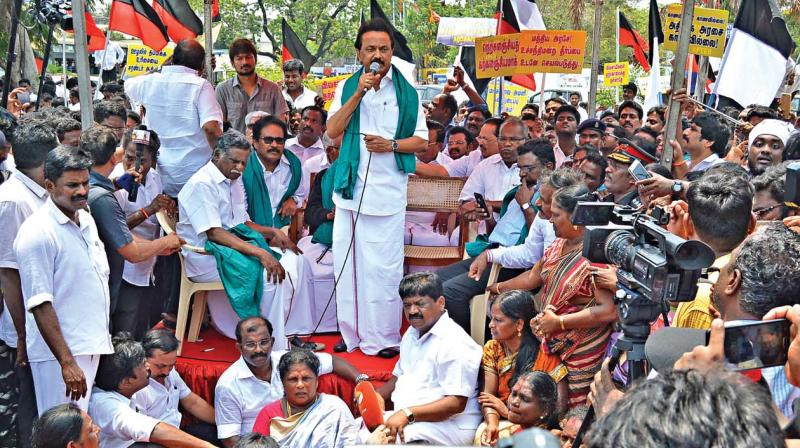 AIADMK starts hunger strike over Cauvery issue