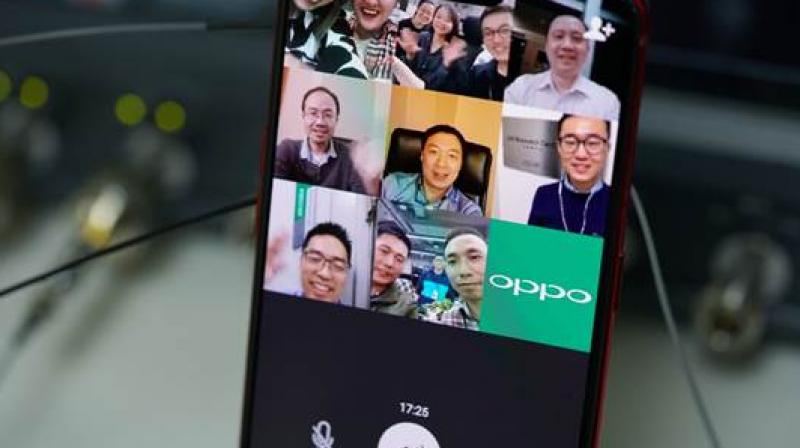 Engineers from six OPPO R&D institutes worldwide participated in the video call using WeChat