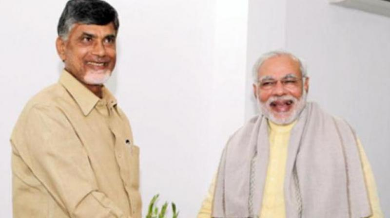Prime Minister Narendra Modi and AP CM Chandrababu Naidu (Photo: File)