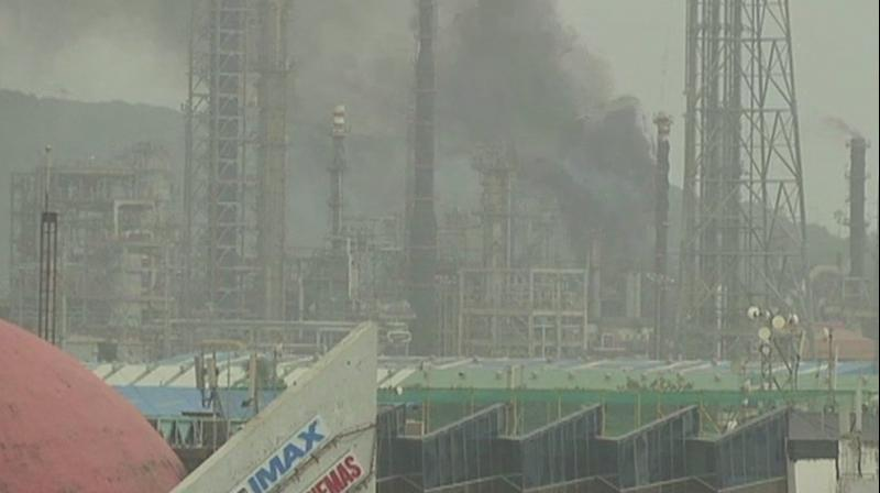 The plant at Mahul road in Chembur area of Mumbai caught fire at around 3 pm, official said. (Photo: Twitter   ANI)