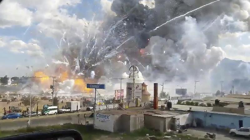 A huge explosion had rocked Mexico's biggest fireworks market earlier this week. (Photo: File)