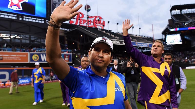 The inaugural All-Stars tournament was held in United States of America between Sachin Tendulkar's Sachin Blasters and Shane Warne's Warne Warriors in 2015. (Photo: AFP)