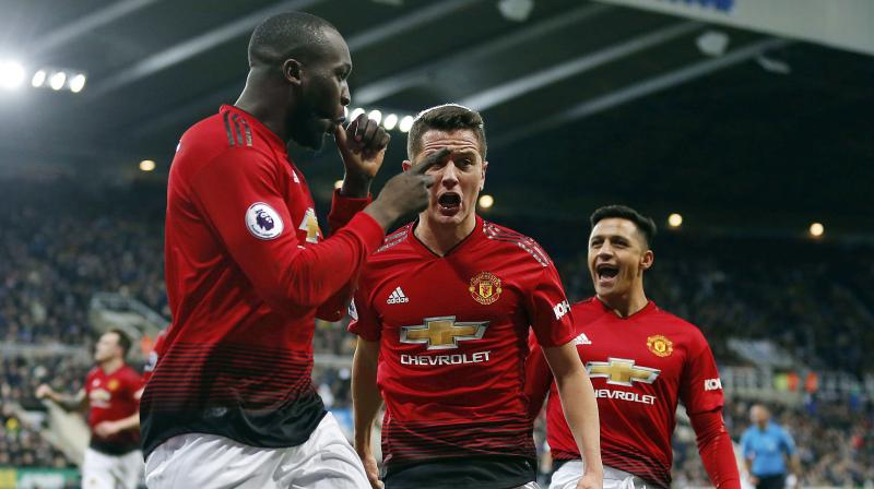 Substitute Romelu Lukaku broke the deadlock just 38 seconds after coming on midway through the second half, pouncing after Newcastle goalkeeper Martin Dubravka had spilled a fierce Marcus Rashford free kick and Rashford himself made sure of the points in the 80th minute. (Photo: AP)