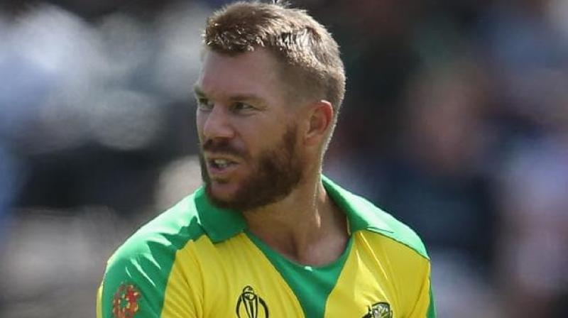 There were scattered boos when opening batsman Warner walked out to bat along with captain Aaron Finch in the warm-up match after Australia lost the toss. (News.com.au/Twitter)