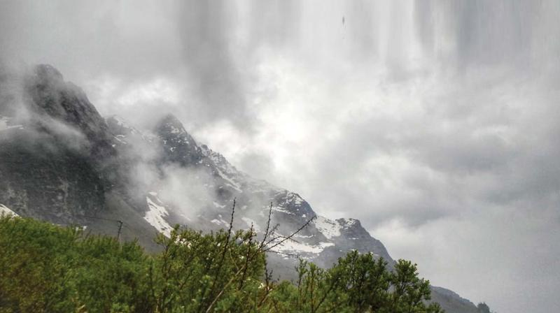 The temple, one of the four major sites in India's Chota Char Dham pilgrimage of Northern Himalayas, is not accessible through roads, but has to be reached by a 16-kilometre trek from Gaurikund.