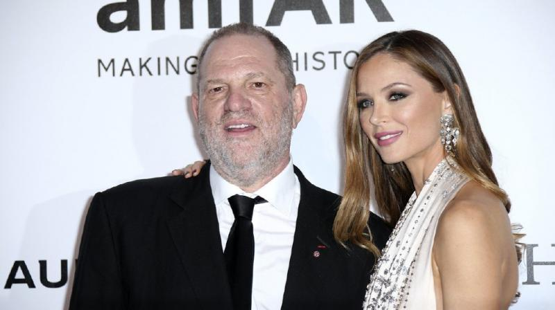 Harvery Weinstein and Georgina Chapman in happier times. (Photo: AP)