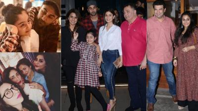 Bollywood stars enjoyed an evening with their close ones in Mumbai on Wednesday and were snapped. (Photo: Viral Bhayani/ Instagram)