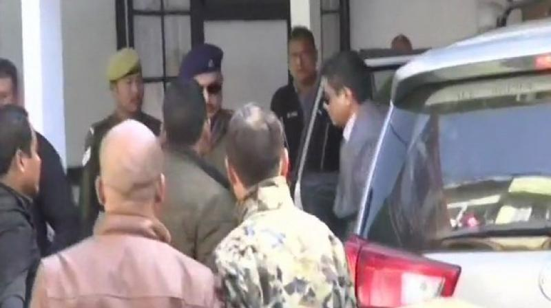 This is the third day of his questioning by the central investigative agency. (Photo: ANI)
