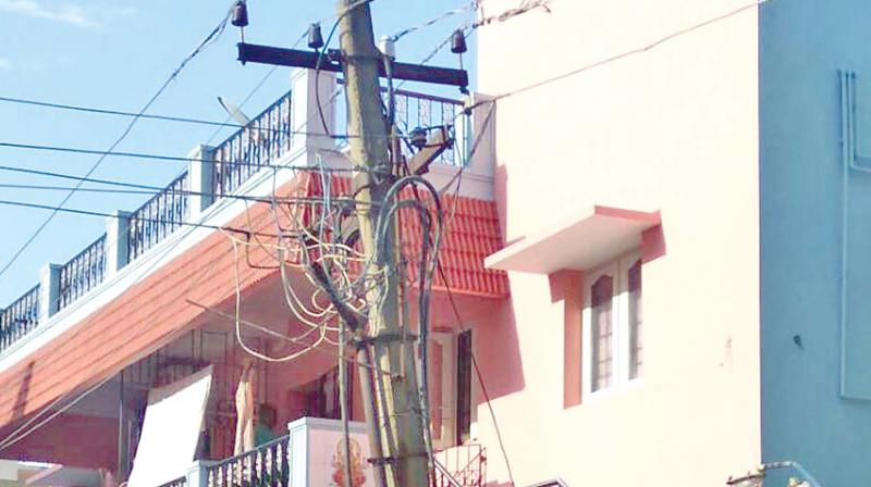 Dangling wires broken junction boxes in Chennai