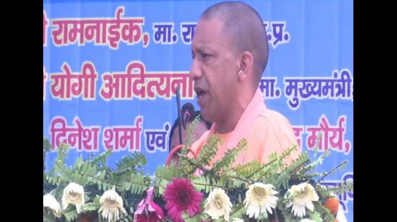 Uttar Pradesh Chief Minister Yogi Adityanath announced a new scheme to ensure proper learning spaces and environment for the children of labourers. (Photo: ANI)