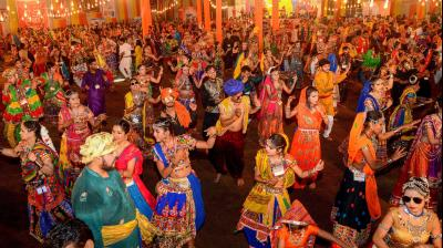 The Navratri festival of nine nights began on October 10 and culminates with the celebration of 'Dussehra'. (Photo: PTI)