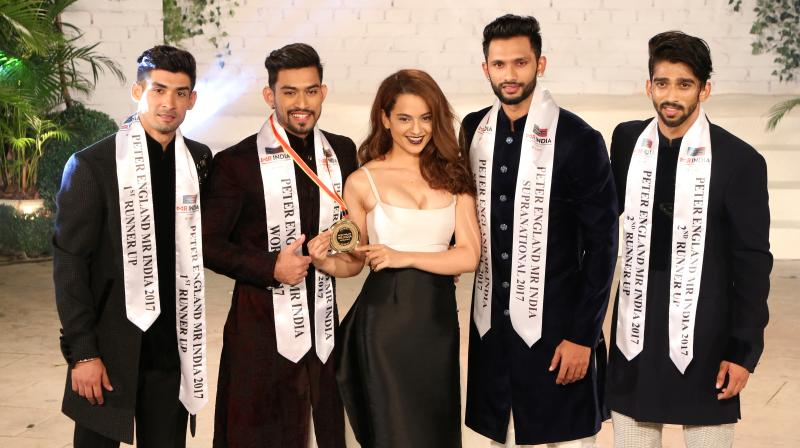 (LtoR) Abhi Khajuria, Jitesh Deo, Kangana Ranaut, Prathamesh Maulingkar and Pavan Rao
