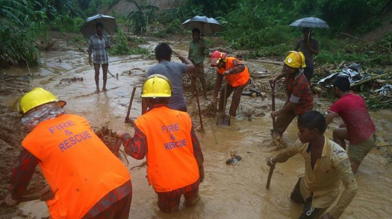 The landslides occurred in the wee hours in Khagrachhari and Moulvibazar districts in Dhaka-Bangladesh. (Representational Image)