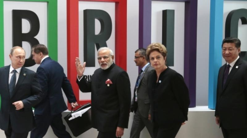 Environment ministers and senior officials of BRICS countries who met in China's Tianjin city for discussions. (Photo: File/AP)