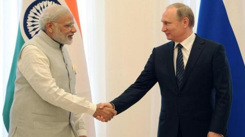 Russia and India today signed MoUs in various sectors, including civil nuclear and LNG. (Photo: AFP)