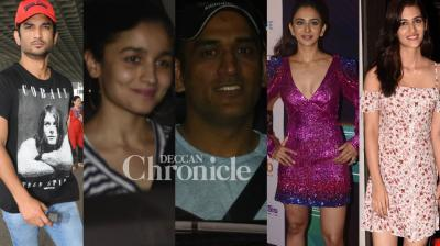 Celebrities were clicked by the shutterbugs in Mumbai at various spots on Sunday. (Photo: Viral Bhayani)