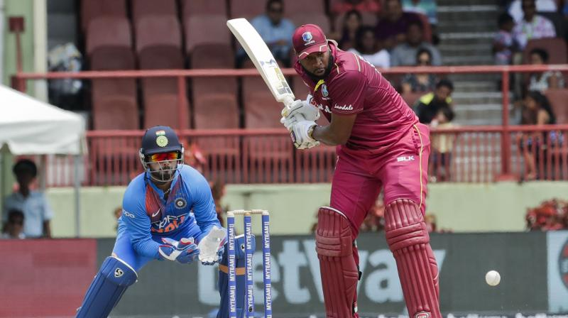 After facing a 3-0 clean sweep at the hands of India in T20I series, West Indies skipper Kieron Pollard said that his knock in the last game was not enough to get his team over the line. (Photo: AP)