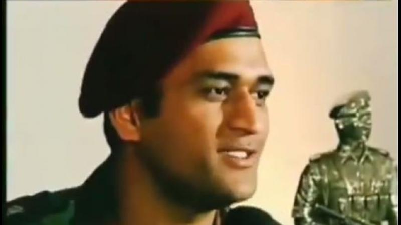 Recently, MS Dhoni has been in a lot of headlines ever since taking the decision of training with a Territorial Army battalion. (Photo: Twitter)