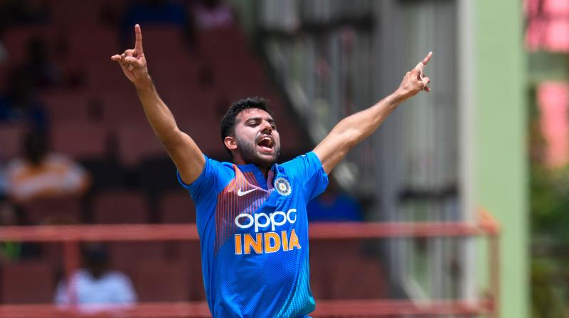 Indian pacer Deepak Chahar's journey has been an incredible one and Sunday night's performance has been the epitome of his career until now. (Photo: AFP)