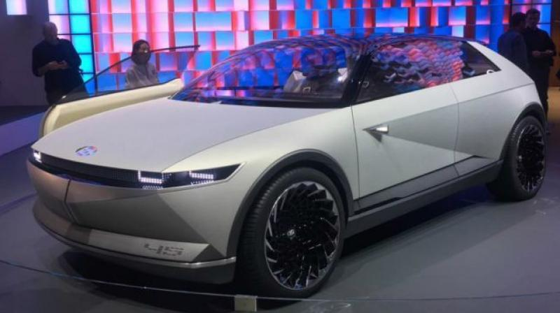 The 45 Concept follows Hyundai's Sensuous Sportiness design language.