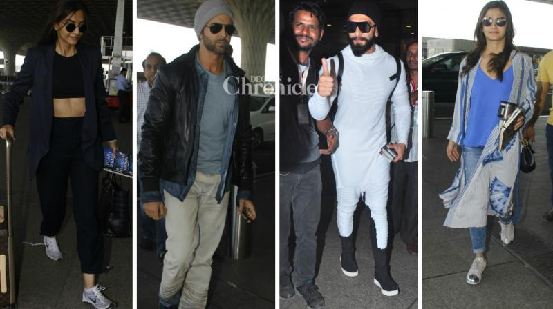 B-Town celebrities were snapped at the Mumbai airport on Tuesday. (Photo: Viral Bhayani)