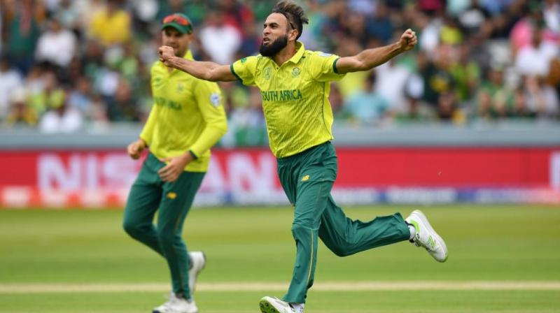 Tahir, as always, celebrated by running around the Lord's ground with arms out like he was flying. (Photo: Cricket World Cup/ Twitter)