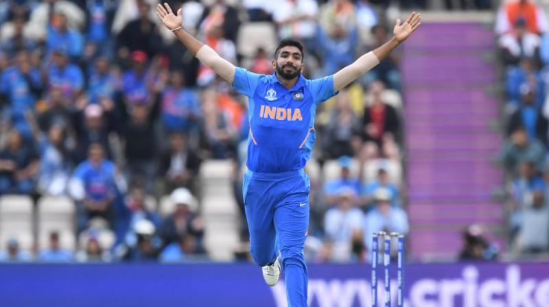 Bumrah's Maiden over with two wickets (Rahmat Shah and Hashmatullah Shahidi) half-way through the innings had cut off Afghanistan's growing attack. (Photo: Cricket World Cup/Twitter)