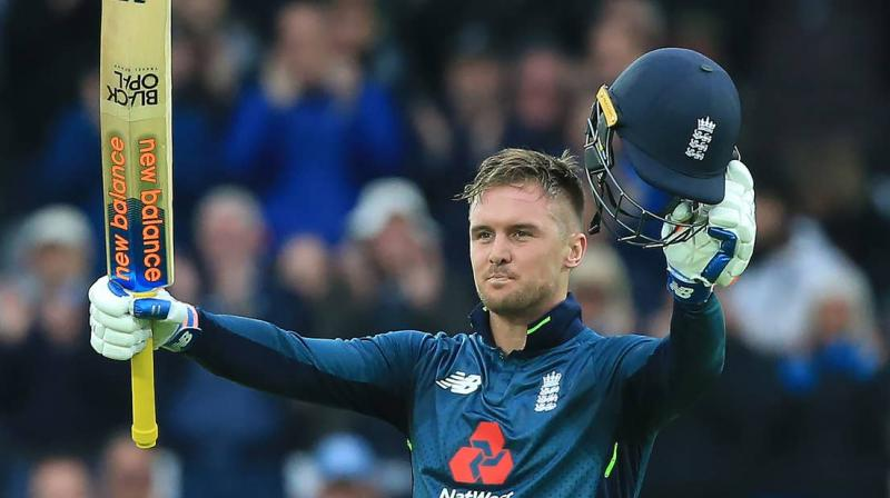 A second scan on Monday morning showed Roy's injury was much improved, boosting hopes he will be fit to play in the match against India at Edgbaston on Sunday. (Photo: AFP)