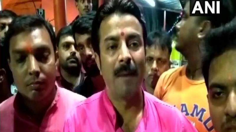 The BJYM members have threatened to block all main roads to recite Hanuman Chalisa on Tuesdays. (Photo: ANI)