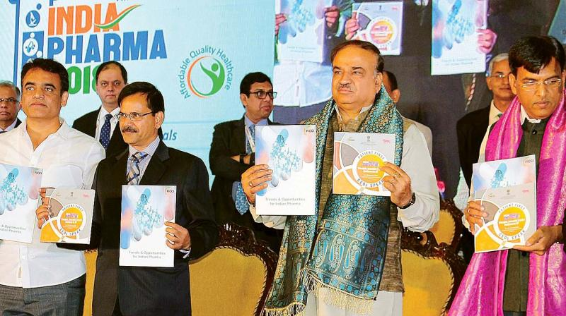 Union Chemicals and Fertilisers Minister H.N.  Ananth Kumar at the launch of Ayushman Bharat insurance scheme in Bengaluru.