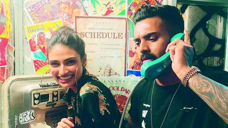 Athiya Shetty and KL Rahul ring in the new year together