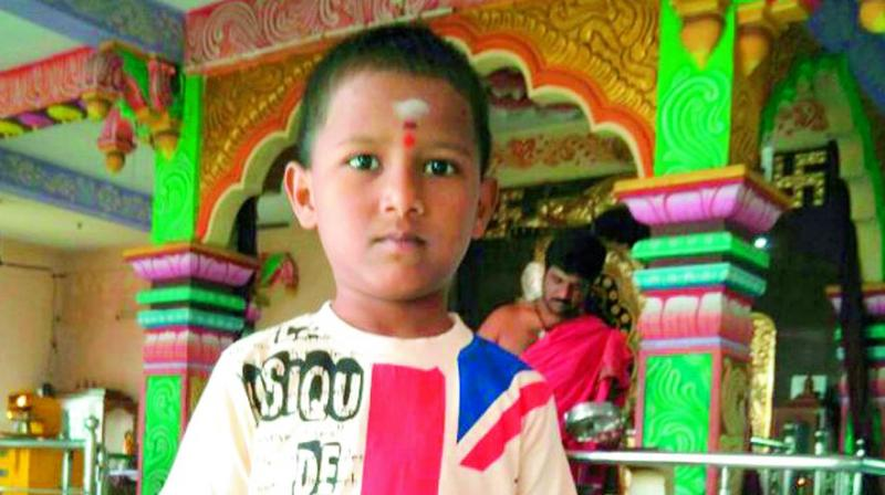 The boy was identified as Lakshmi Deepak, the only son of S. Anandbabu and Jaya.