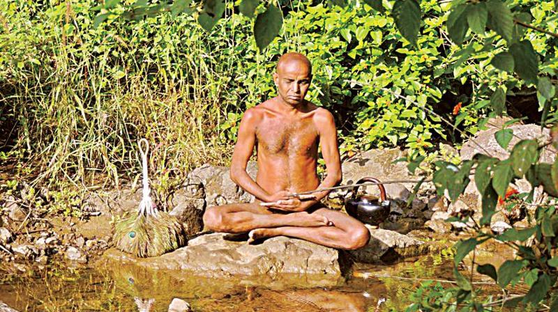 A Jain muni at Chandragiri Hill near Hassan. (Photo:DC)
