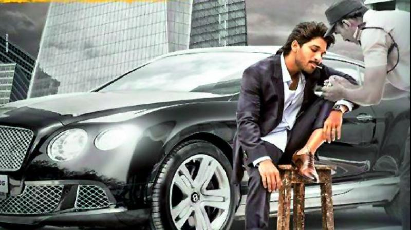 Allu Arjun's film with director Trivikram Srinivas is still being shot, but they have already started to promote it.